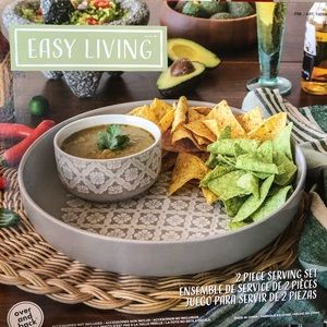 Easy living 2 piece serving set-new